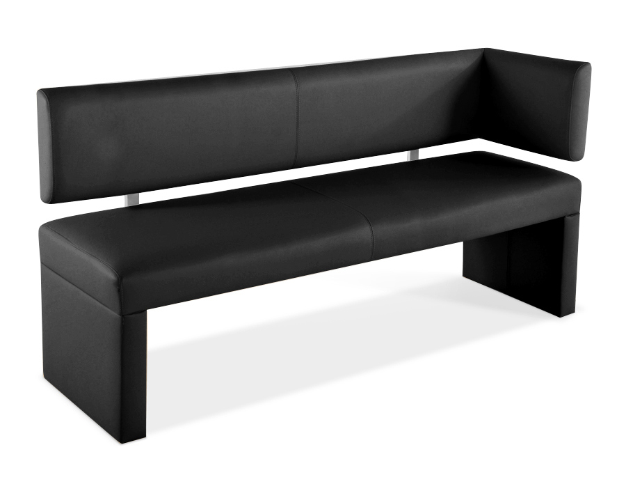 sam sitzbank ottomane recyceltes leder 150 cm schwarz lasofia auf lager. Black Bedroom Furniture Sets. Home Design Ideas