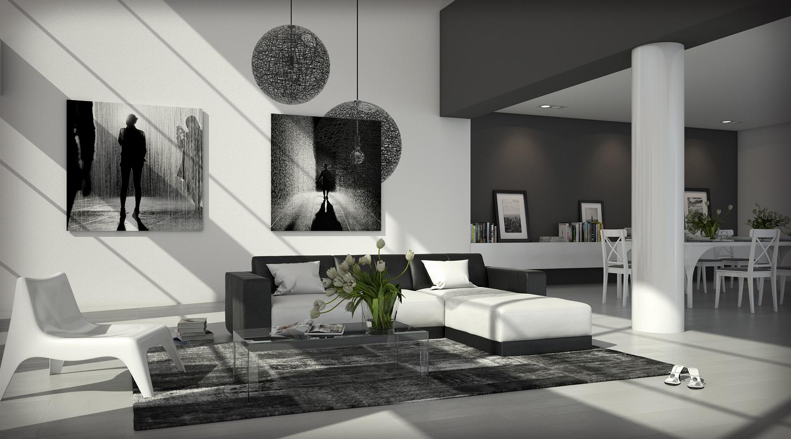 sam ecksofa wei schwarz polsterecke fadrina 260 x 200 cm auf lager. Black Bedroom Furniture Sets. Home Design Ideas
