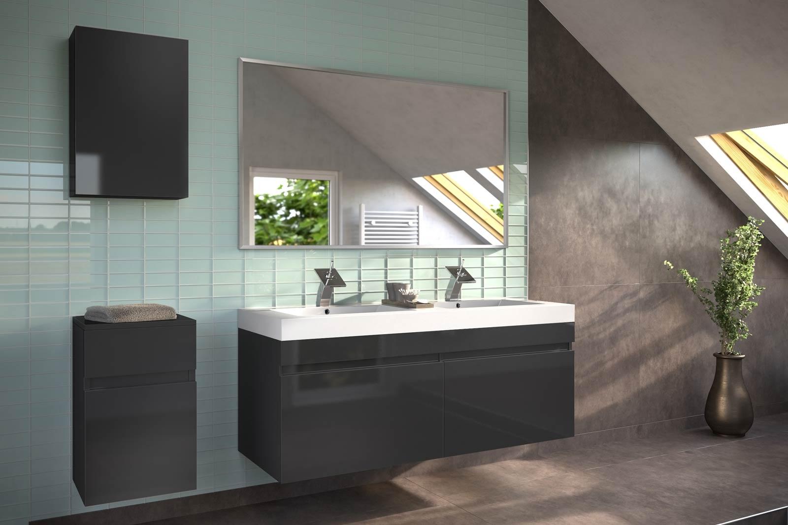 sam badm bel 4tlg set schwarz hochglanz parma auf lager. Black Bedroom Furniture Sets. Home Design Ideas