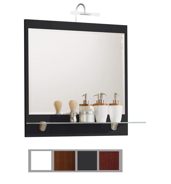 Spiegel Mit Beleuchtung Und Ablage : ... Badezimmer Spiegel mit Beleuchtung und Glas-Ablage Santana Farbauswahl