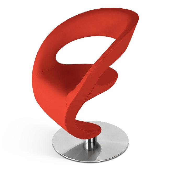 Sam design drehstuhl in rot diabolo auf lager for Designer drehstuhl
