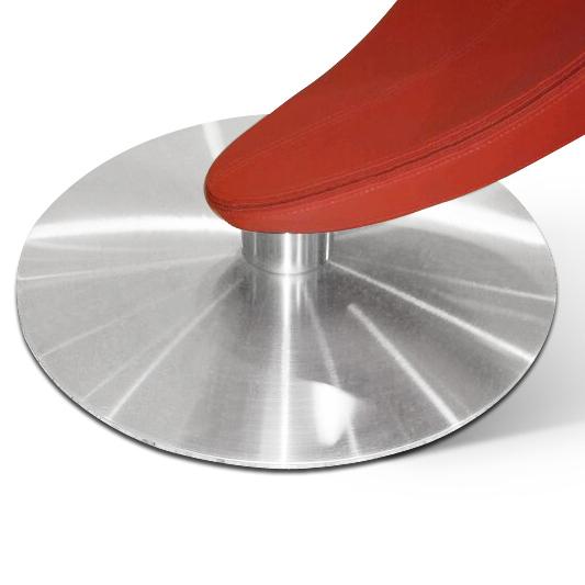 Designer Drehstuhl Esszimmer : Drehstuhl Esszimmer Leder  SAM® Design Drehstuhl in rot DIABOLO Auf