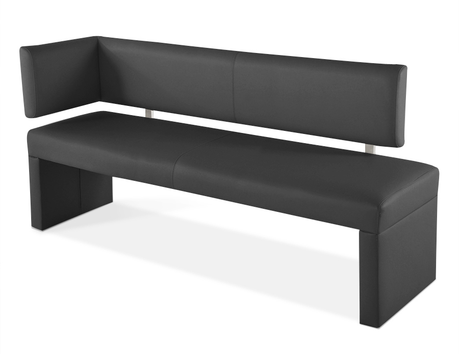 sam sitzbank ottomane recyceltes leder 170 cm grau sabatina auf lager. Black Bedroom Furniture Sets. Home Design Ideas