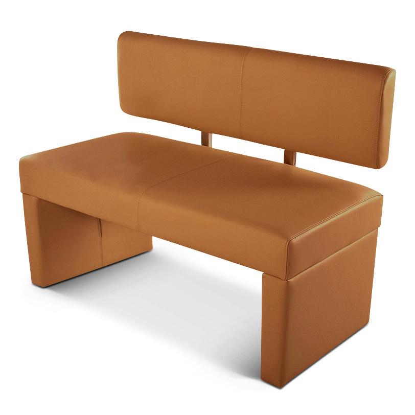 sam sitzbank sander 140 cm recyceltes leder cappuccino auf lager. Black Bedroom Furniture Sets. Home Design Ideas