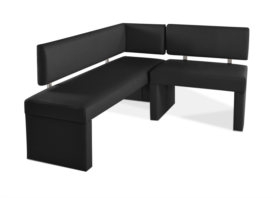 sam eckbank recyceltes leder schwarz 150 cm x cm sofia. Black Bedroom Furniture Sets. Home Design Ideas
