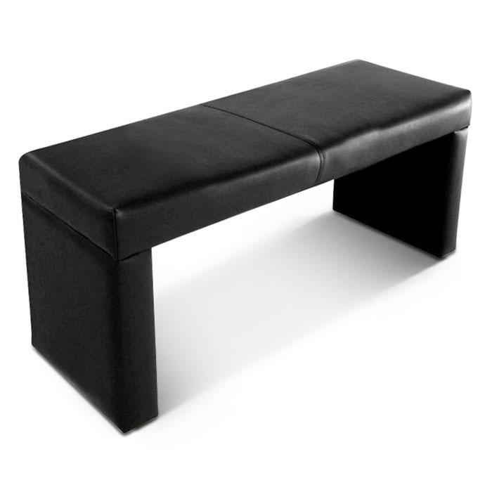 sam esszimmer sitzbank recyceltes leder schwarz garcia 140 cm auf lager. Black Bedroom Furniture Sets. Home Design Ideas