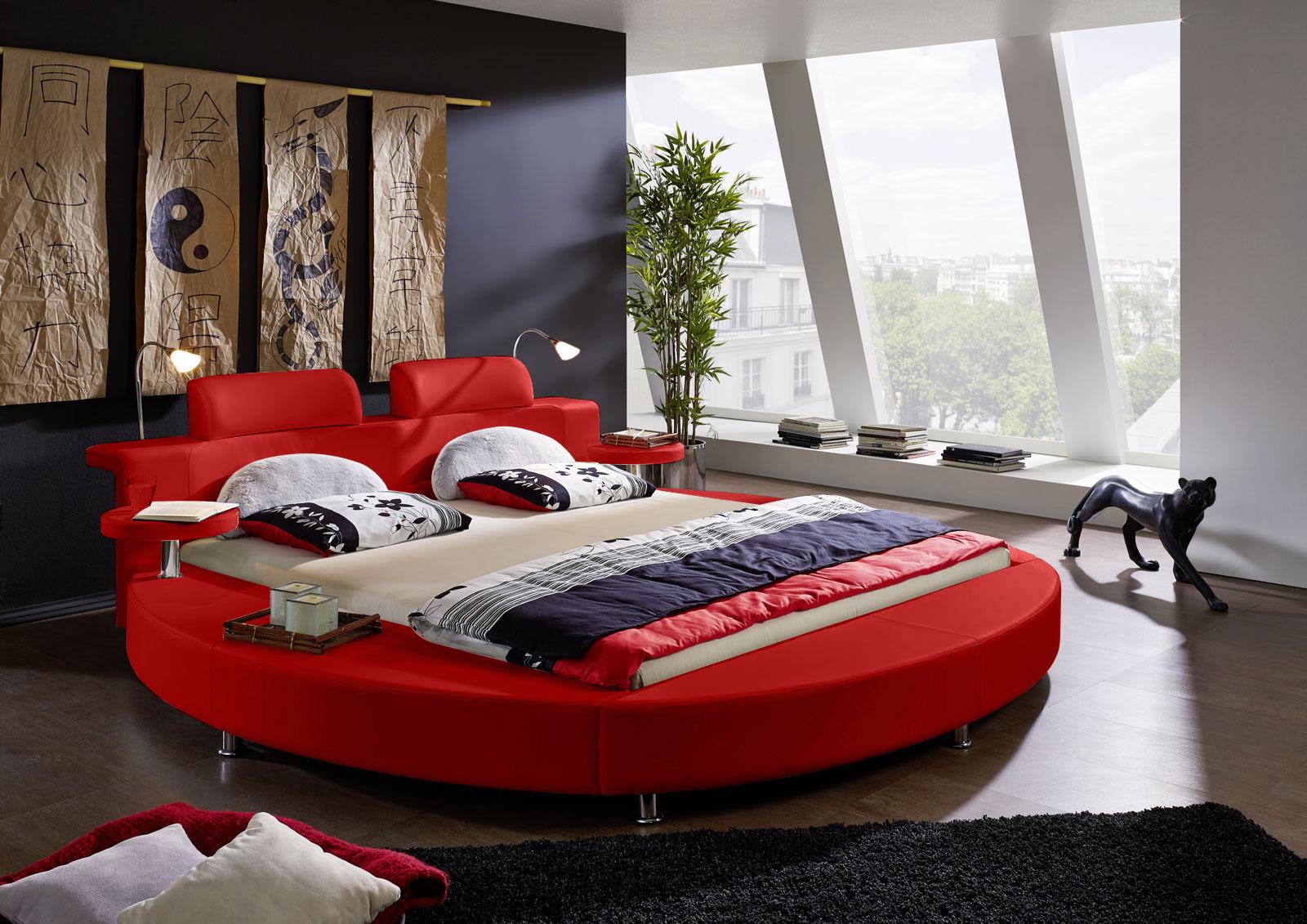 sam rundbett 180 x 200 cm beleuchtung rot classico demn chst. Black Bedroom Furniture Sets. Home Design Ideas