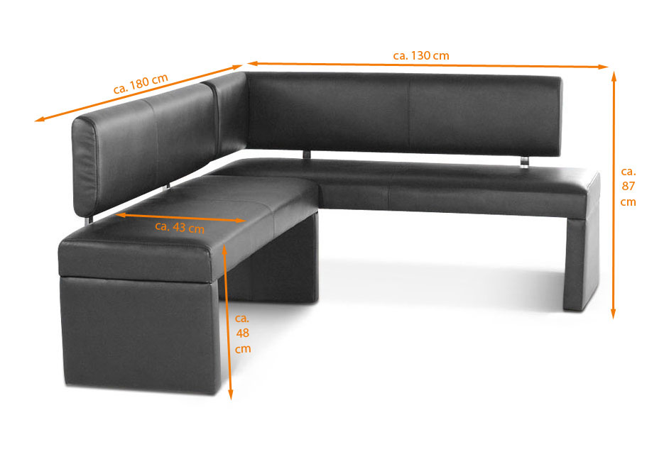 sam esszimmer eckbank recyceltes leder 130 x 180cm grau saana auf lager. Black Bedroom Furniture Sets. Home Design Ideas