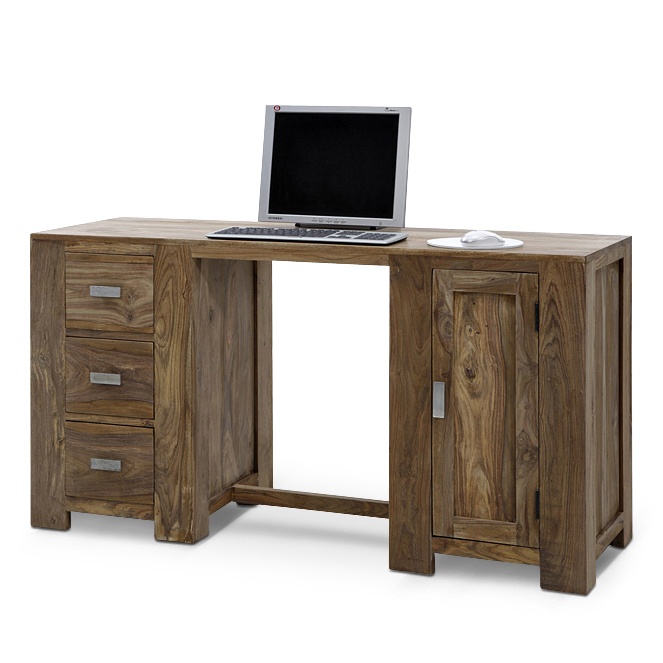 sam schreibtisch palisander holz 160 cm 3 schubladen na. Black Bedroom Furniture Sets. Home Design Ideas