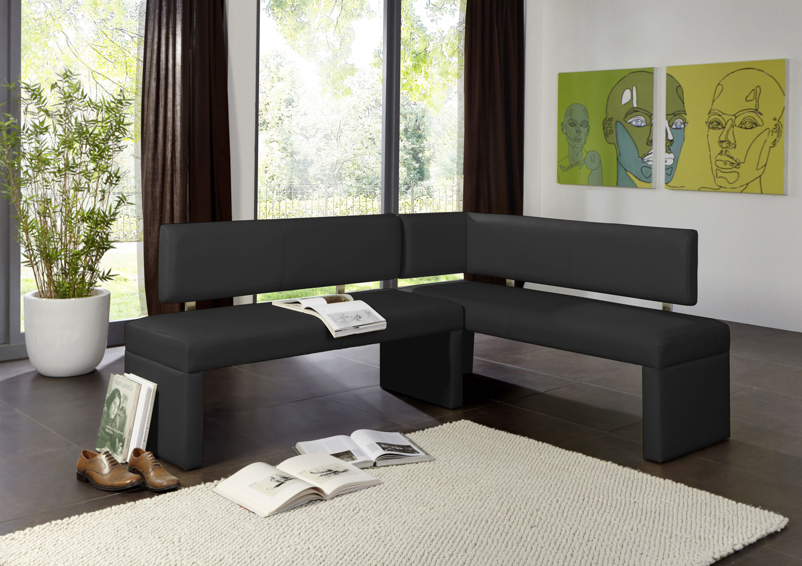 sam esszimmer eckbank recyceltes leder 180 x 130 cm. Black Bedroom Furniture Sets. Home Design Ideas