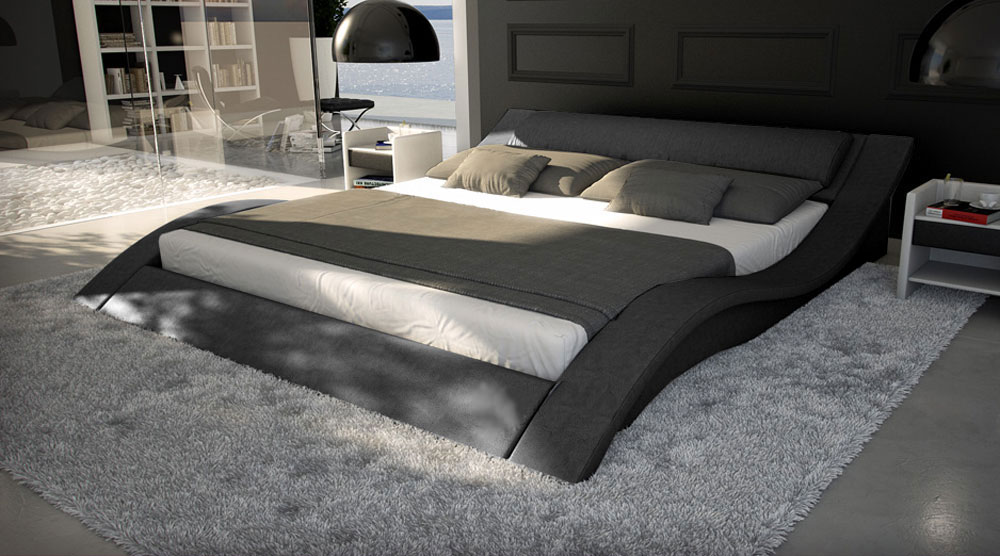sam polsterbett innocent 180 x 200 cm grau santucci auf lager. Black Bedroom Furniture Sets. Home Design Ideas