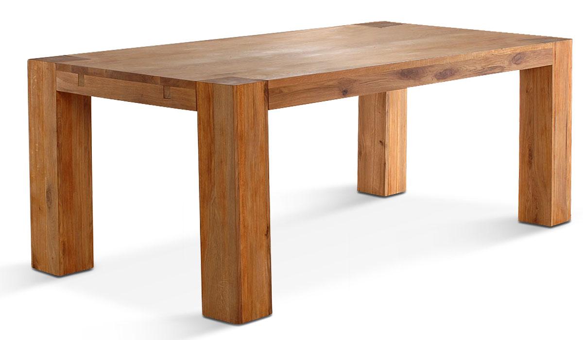 Sam sit vollholz wildeiche tisch 100 x 180 cm balthasar for Esszimmer tische vollholz
