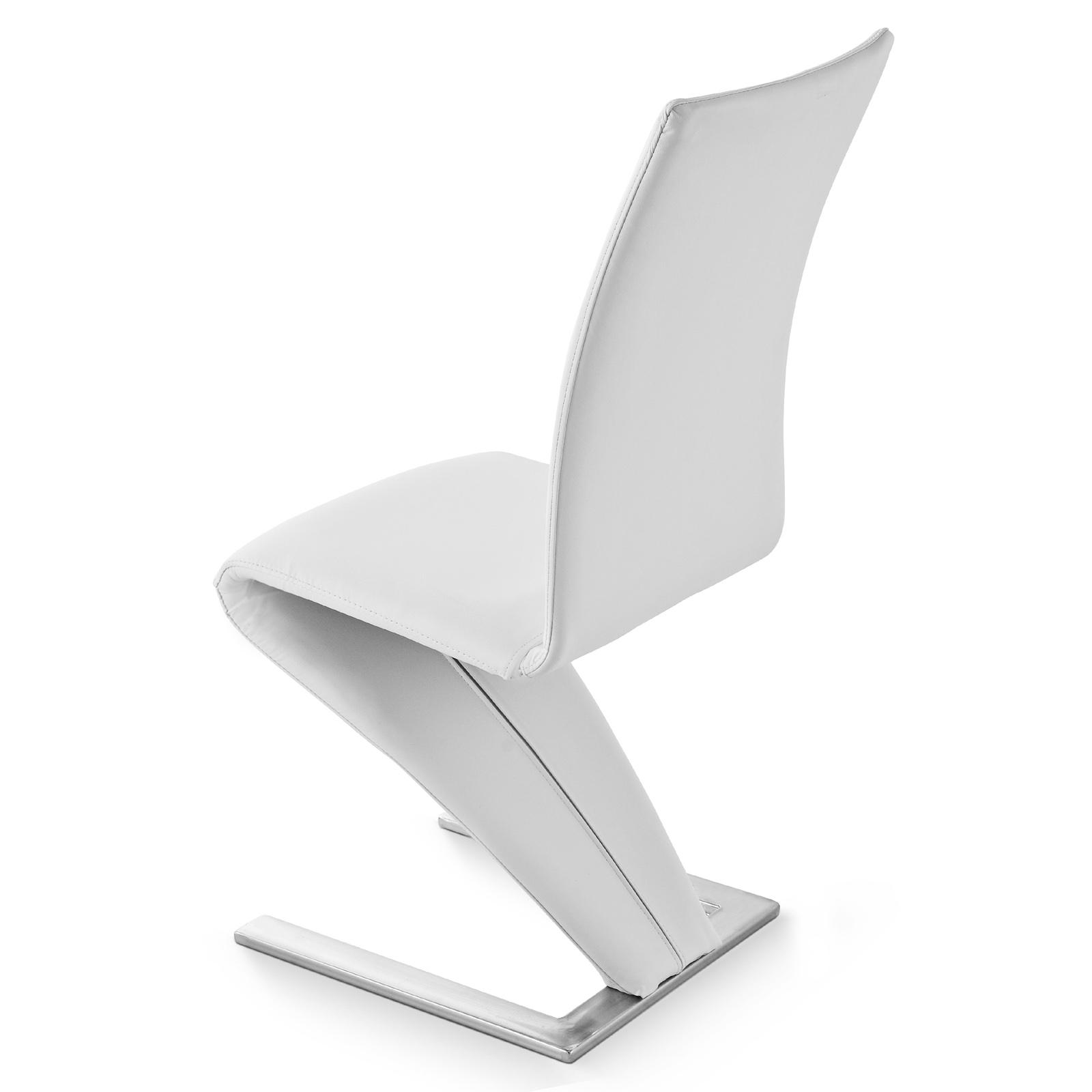 sam freischwinger stuhl wei edelstahl romeo auf lager. Black Bedroom Furniture Sets. Home Design Ideas