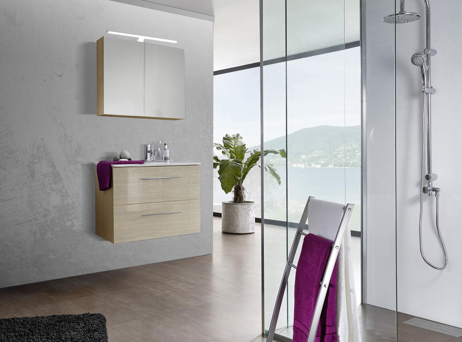 sam 2tlg badezimmer set sonomaeiche 80 cm verena demn chst. Black Bedroom Furniture Sets. Home Design Ideas