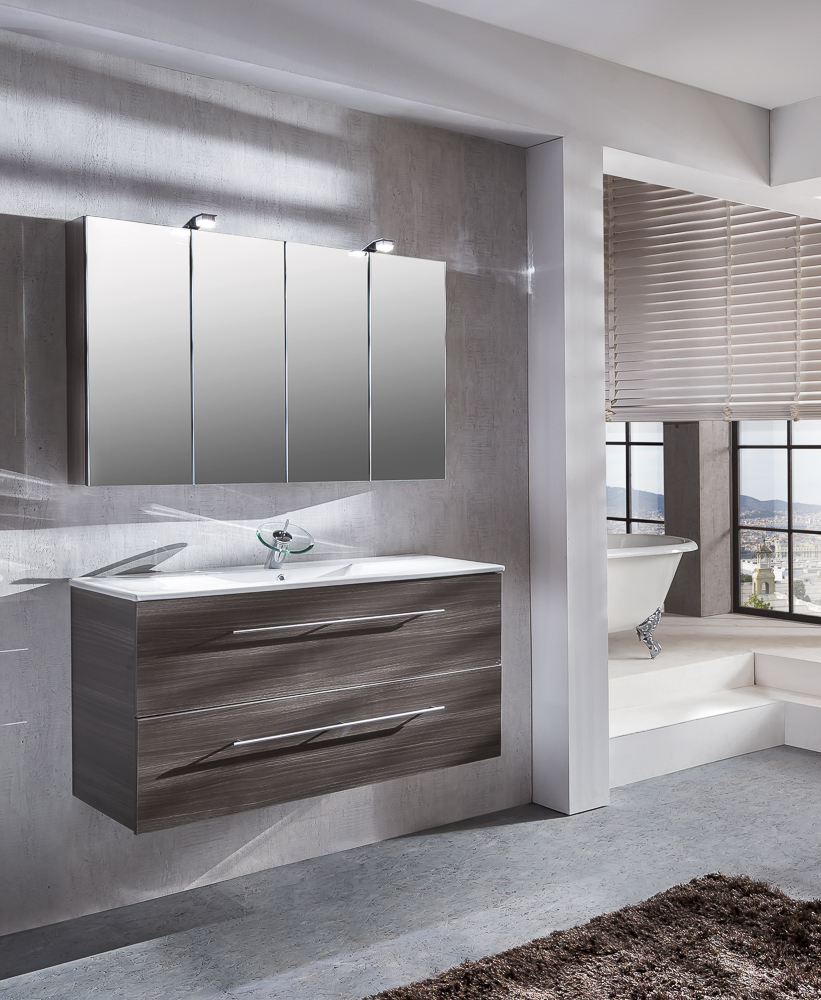 sam 2tlg badezimmer set tr ffeleiche 120 cm verena demn chst. Black Bedroom Furniture Sets. Home Design Ideas