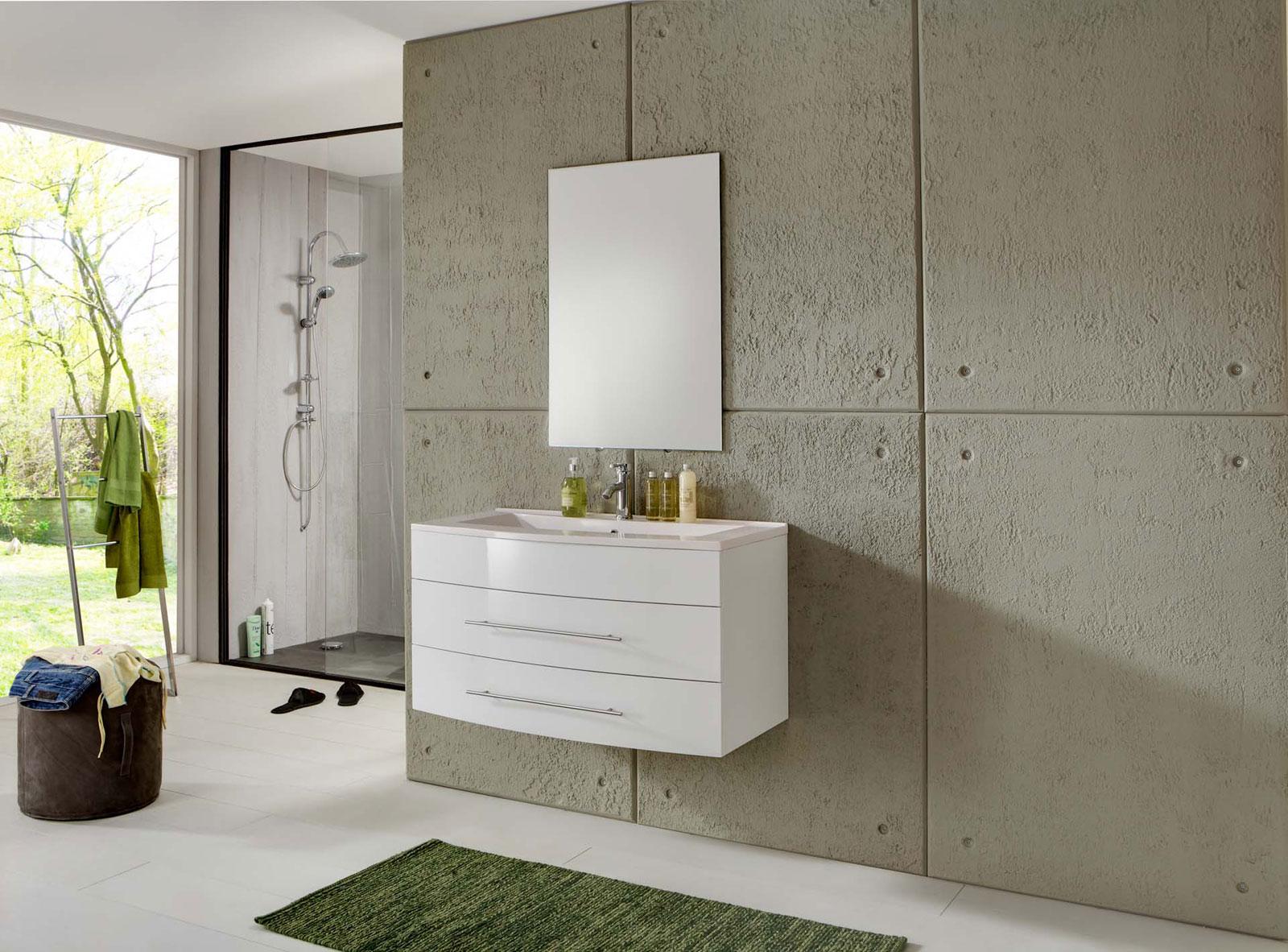 sam 2tlg badm bel set wei 100 cm beckenauswahl basel light. Black Bedroom Furniture Sets. Home Design Ideas