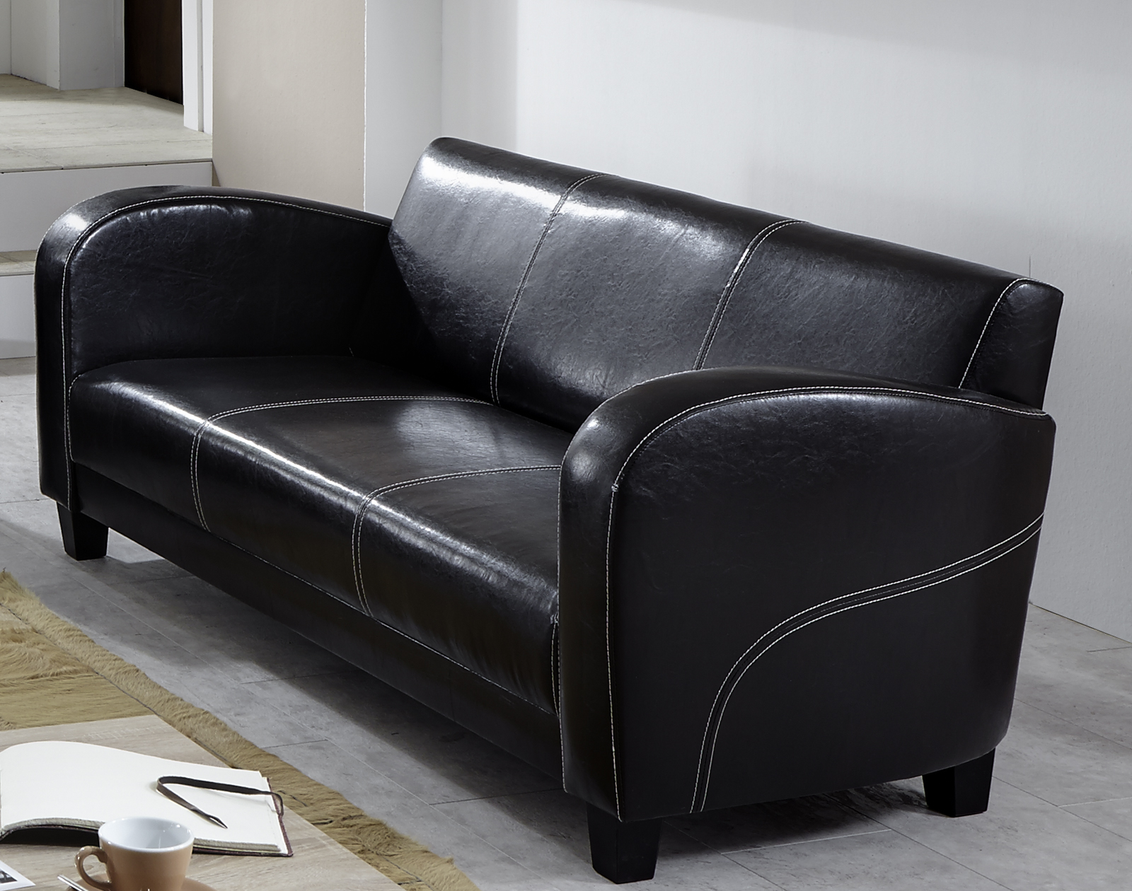 Sam 2tlg sofa garnitur antik braun patryk 3 2 for Sofa garnitur