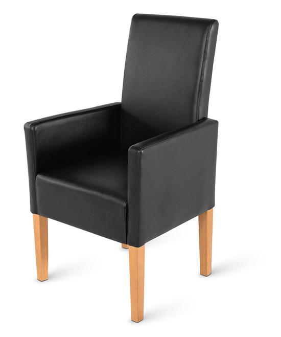 SAM® Stuhl Set aus recyceltem Leder in schwarz buche 4 + 2 ...