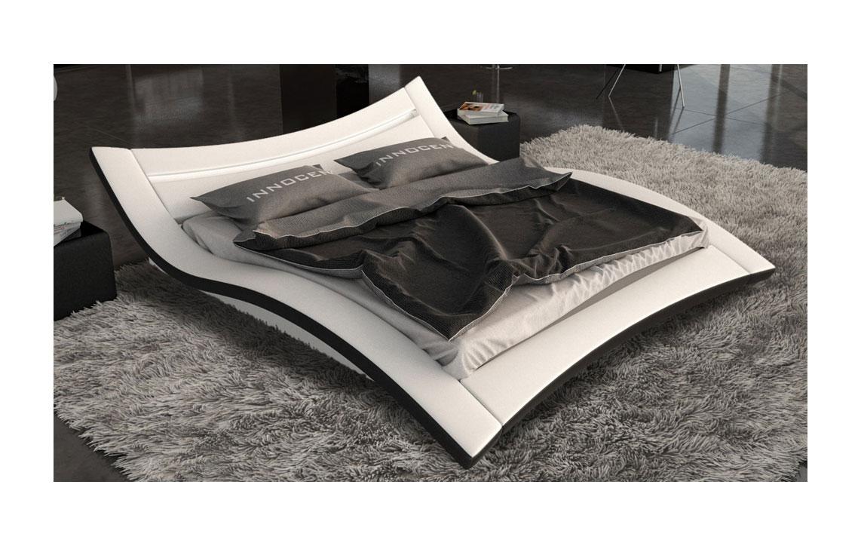 sam bett 160 x 200 cm in wei schwarz seducce led auf lager. Black Bedroom Furniture Sets. Home Design Ideas