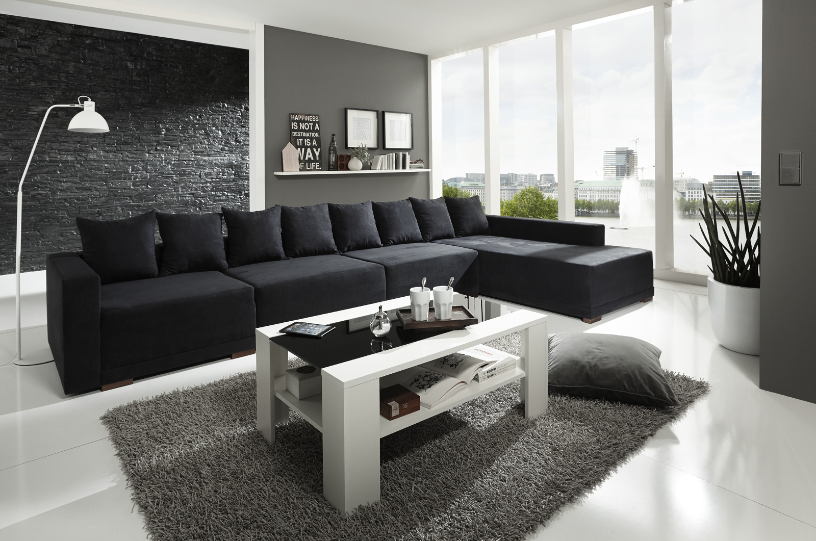 wohnzimmer t rkis braun und wei. Black Bedroom Furniture Sets. Home Design Ideas