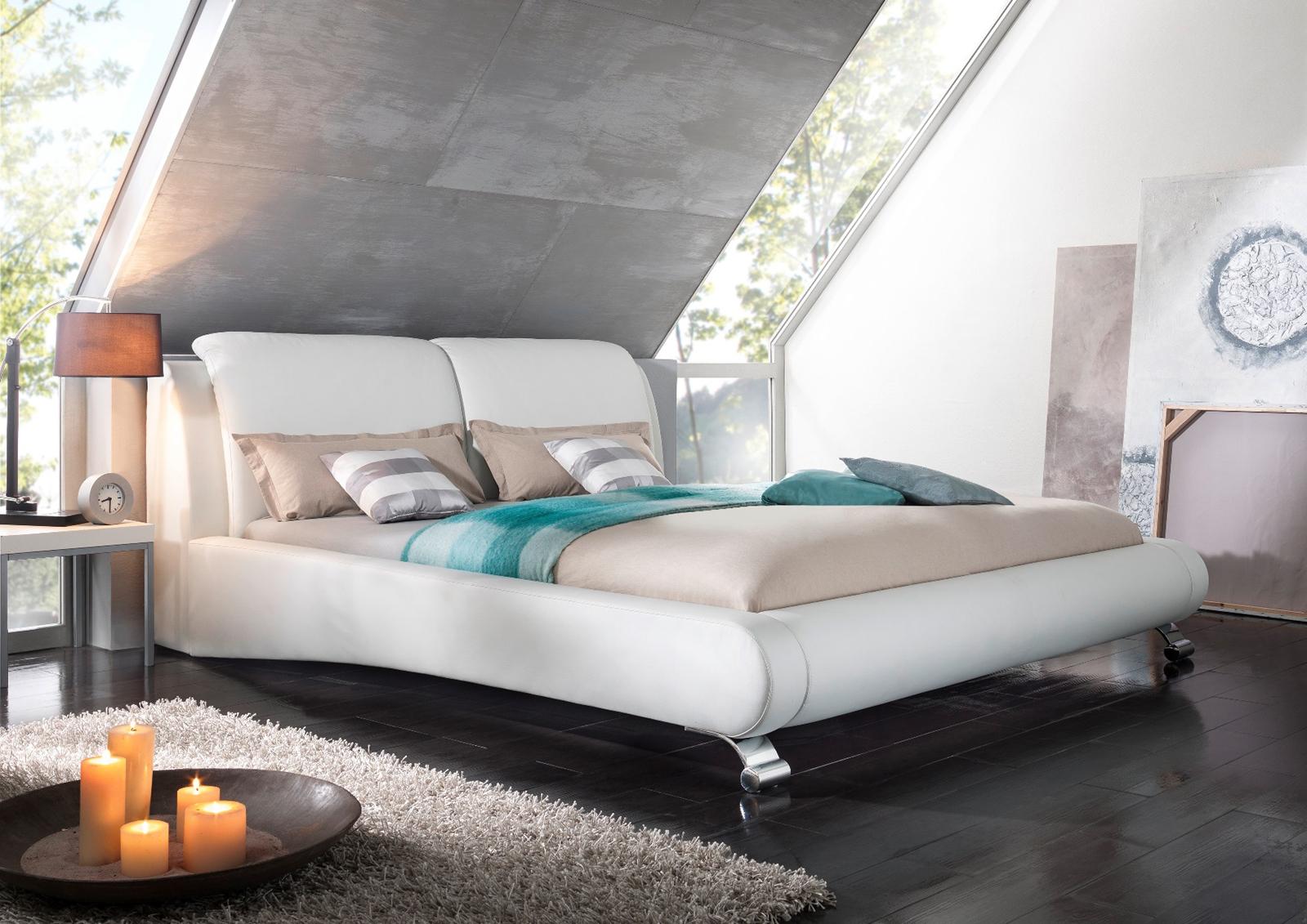 sam design bett 180 x 200 cm wei anna auf lager. Black Bedroom Furniture Sets. Home Design Ideas