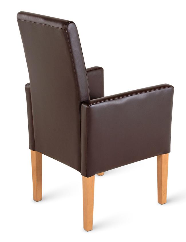 sam esszimmerstuhl armlehnstuhl braun recyceltes leder bitonto demn chst. Black Bedroom Furniture Sets. Home Design Ideas