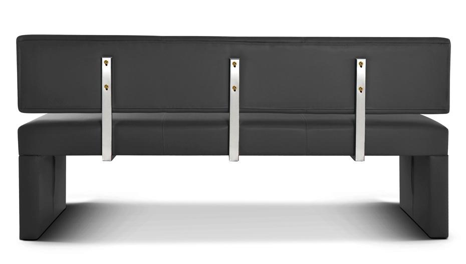 sam esszimmerbank 164 cm grau recyceltes leder sabatina. Black Bedroom Furniture Sets. Home Design Ideas