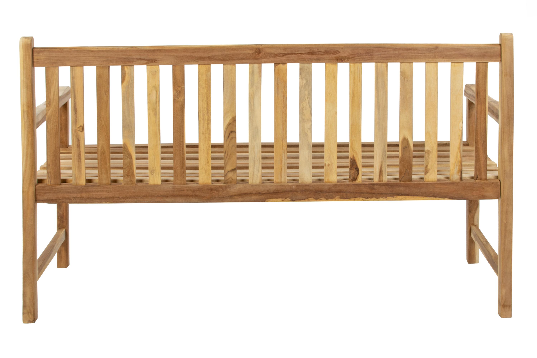 SAMR Gartenbank Teak Holz 150 Cm 3 Sitzer CARACAS Auf Lager