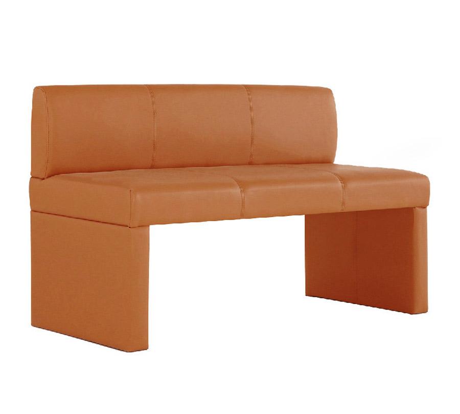 sam sitzbank mit lehne cappuccino 126 cm recyceltes leder. Black Bedroom Furniture Sets. Home Design Ideas