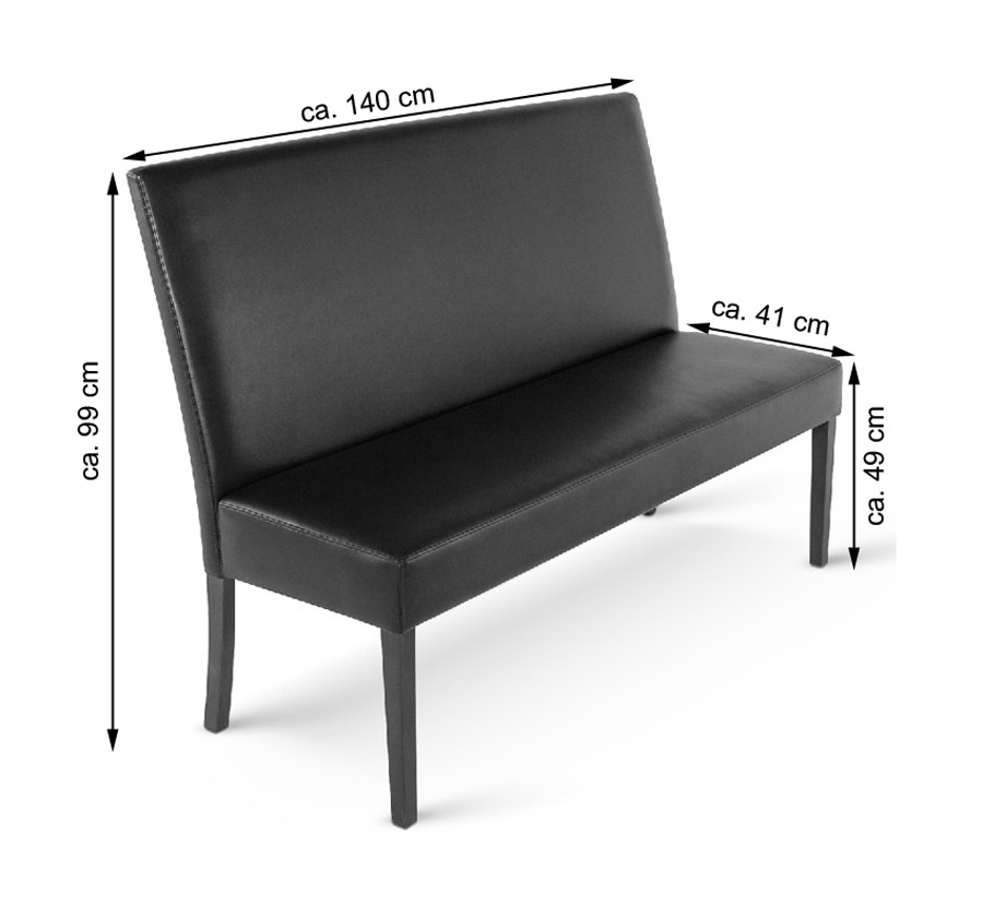 sam esszimmerbank mit lehne 160 cm braun recyceltes leder florenz. Black Bedroom Furniture Sets. Home Design Ideas