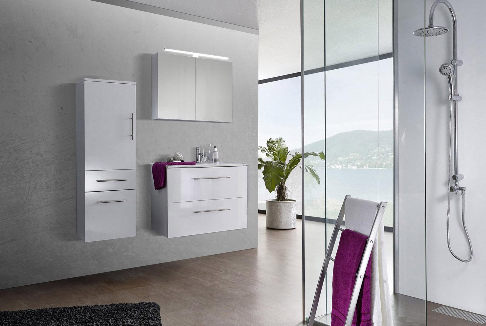 Sam 3tlg badezimmer set spiegelschrank wei 80 cm verena - Badezimmer set ...