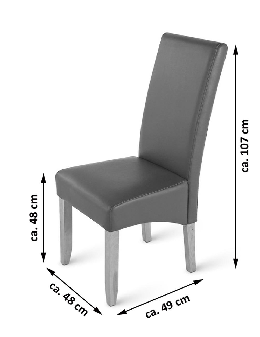 Sale esszimmerstuhl stuhl grau recyceltes leder matilde for Stuhl leder grau