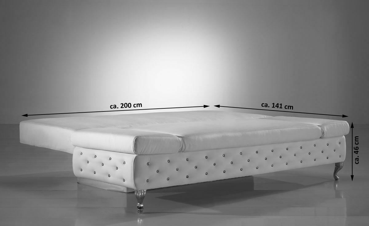 Schlafcouch mit bettkasten weiß  SAM® Schlafsofa Schlafcouch mit Bettkasten weiß 200 cm Roxy