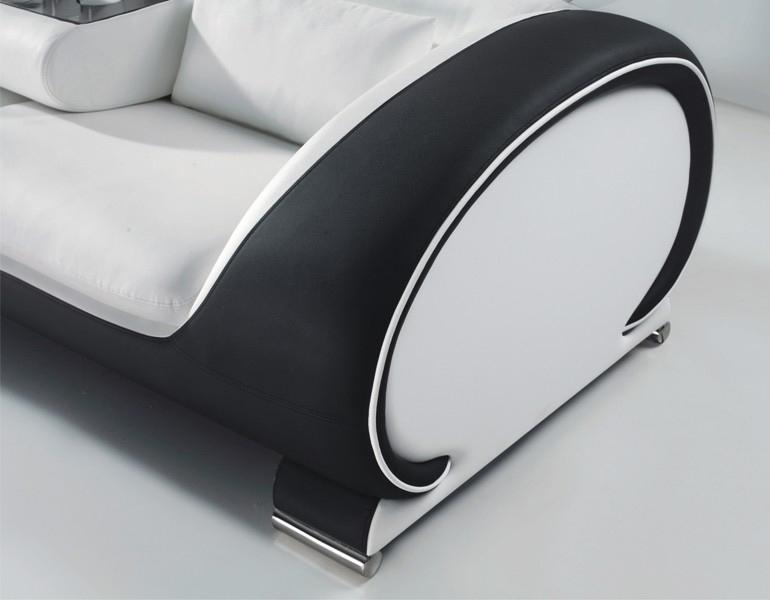 sam® design garnitur sofa 3tlg. in weiß schwarz vigo 3-2-1 - Weisse Wohnung Futuristisch Innendesign