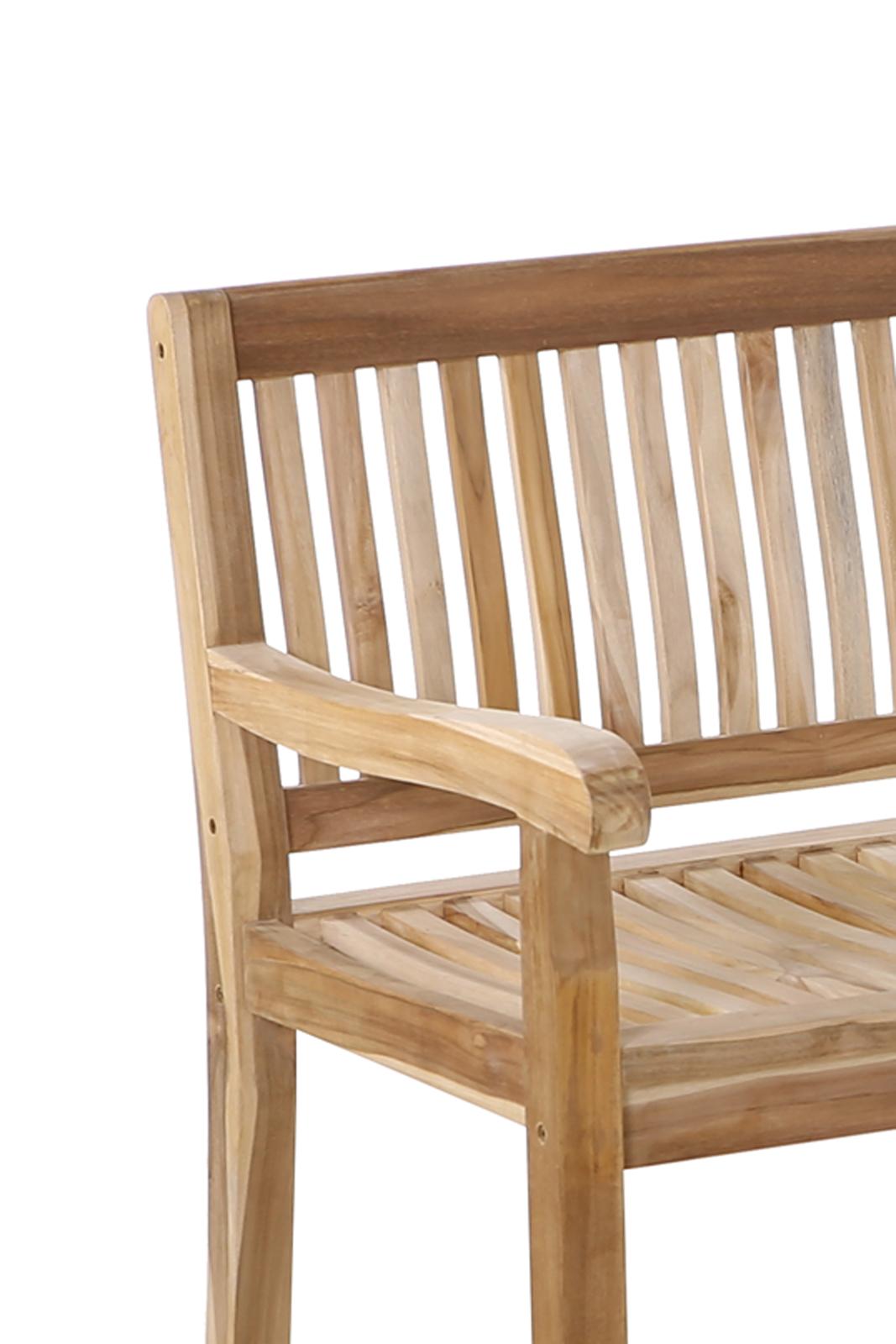SAM® Gartenbank Holz Teak 150 cm Kingsbury günstig