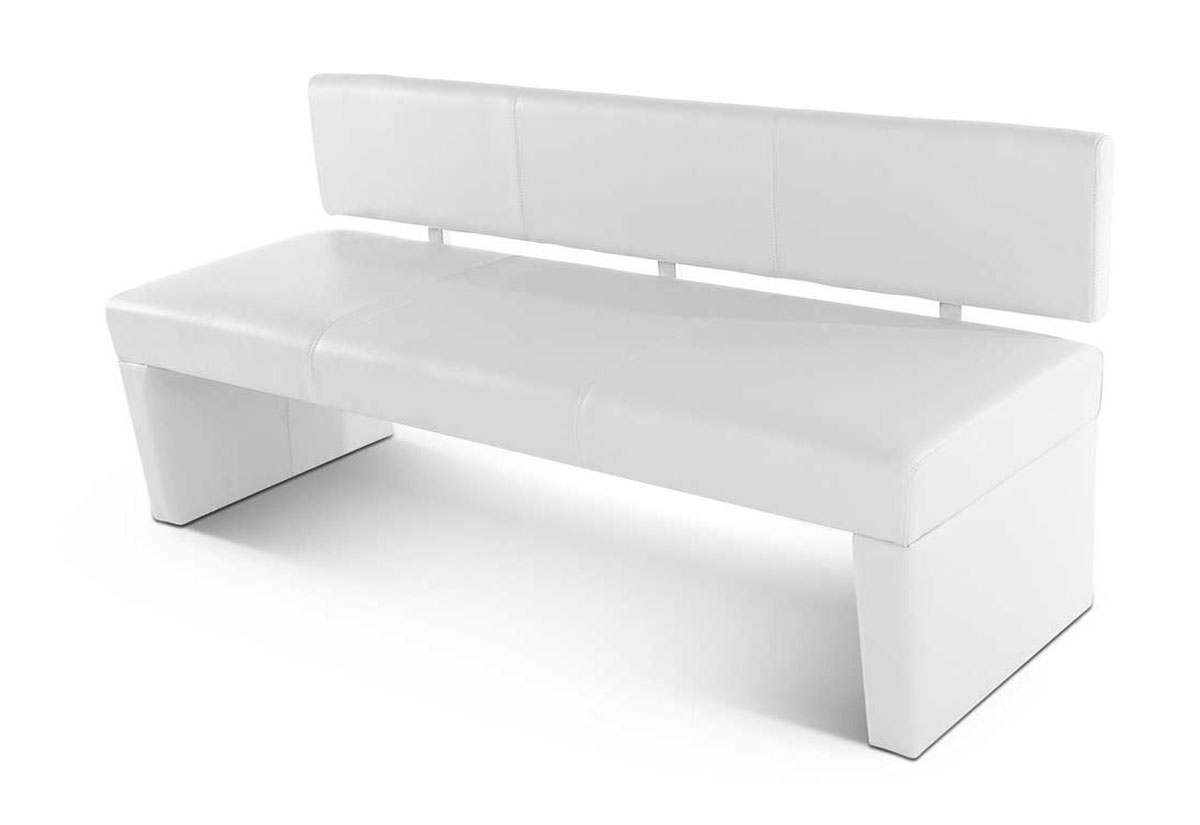 sam esszimmer 4er sitzbank wei 200 cm recyceltes leder selena auf lager. Black Bedroom Furniture Sets. Home Design Ideas