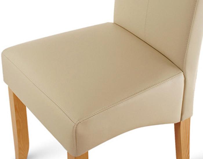 sam esszimmerstuhl stuhl creme recyceltes leder jose demn chst. Black Bedroom Furniture Sets. Home Design Ideas
