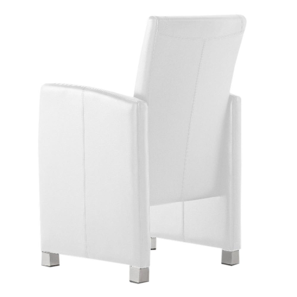 sam esszimmerstuhl sessel wei recyceltes leder maicon demn chst. Black Bedroom Furniture Sets. Home Design Ideas