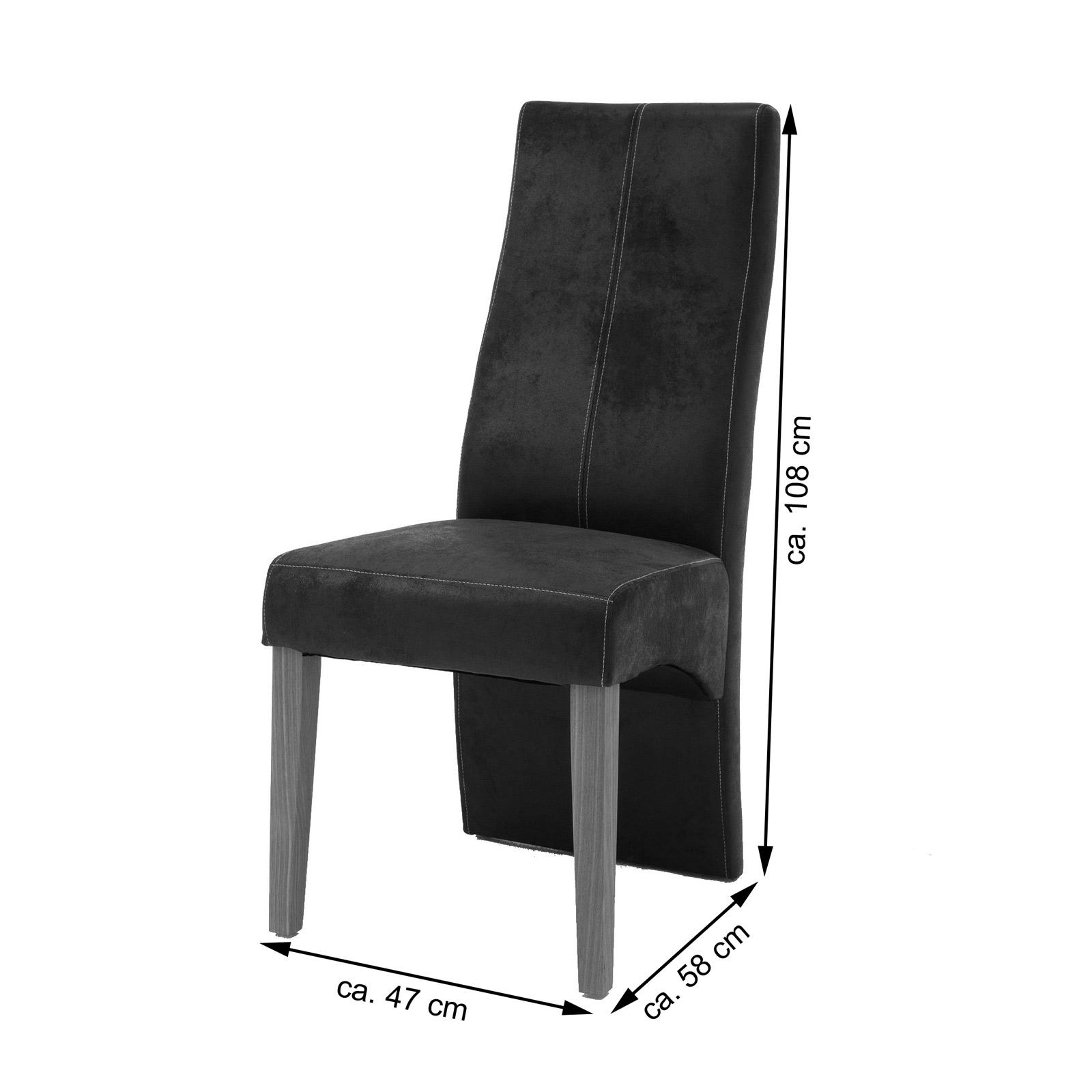 sam esszimmerstuhl braun mit stoffbezug in wildlederoptik 4789 30. Black Bedroom Furniture Sets. Home Design Ideas