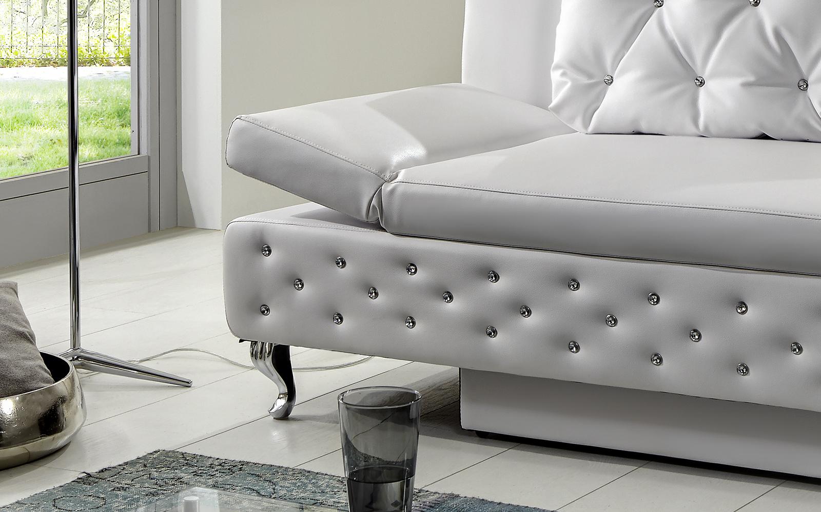 sam schlafsofa wei sofa roxy 200 cm auf lager. Black Bedroom Furniture Sets. Home Design Ideas