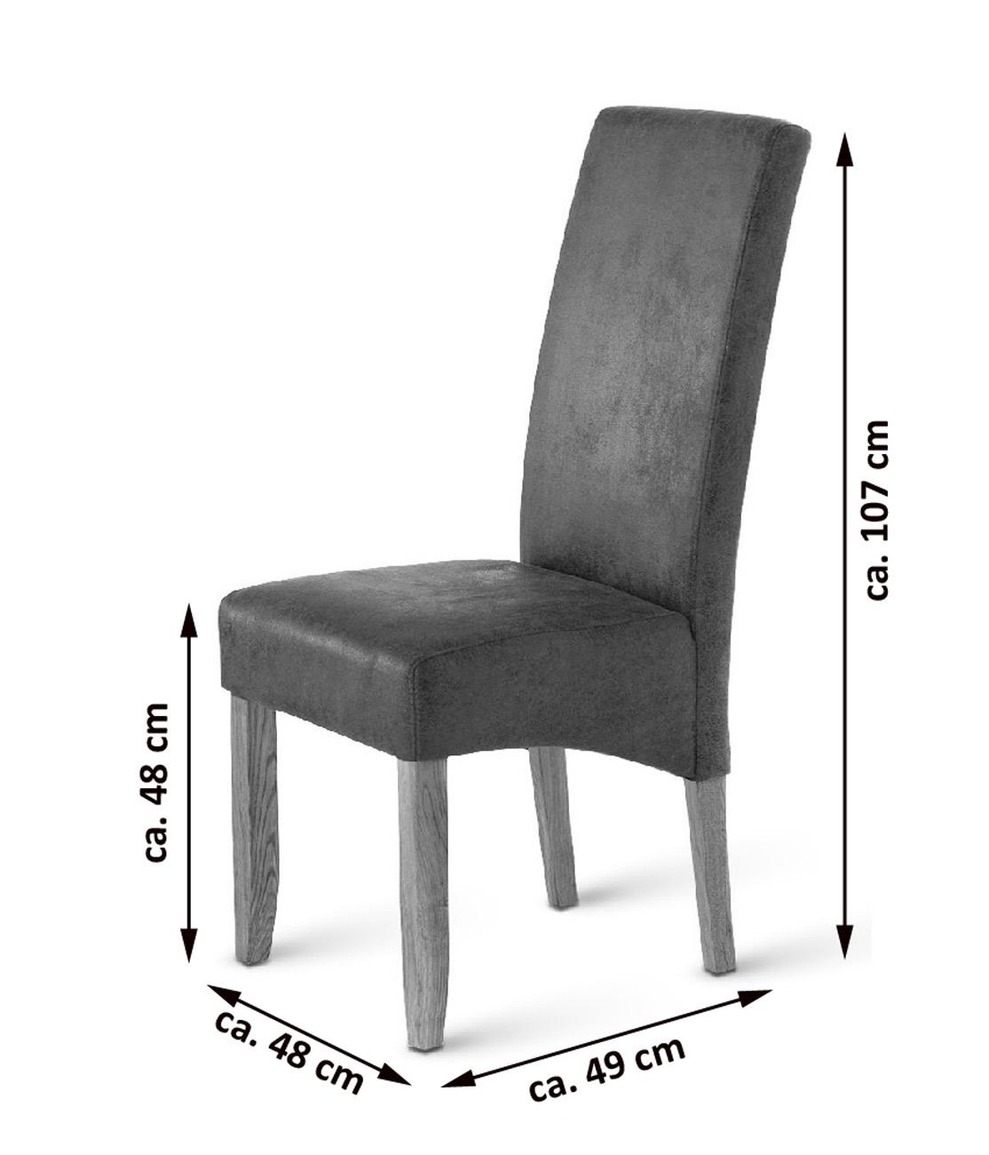 Stuhle esszimmer leder design stuhl leder esstisch eiche for Design stuhl charly