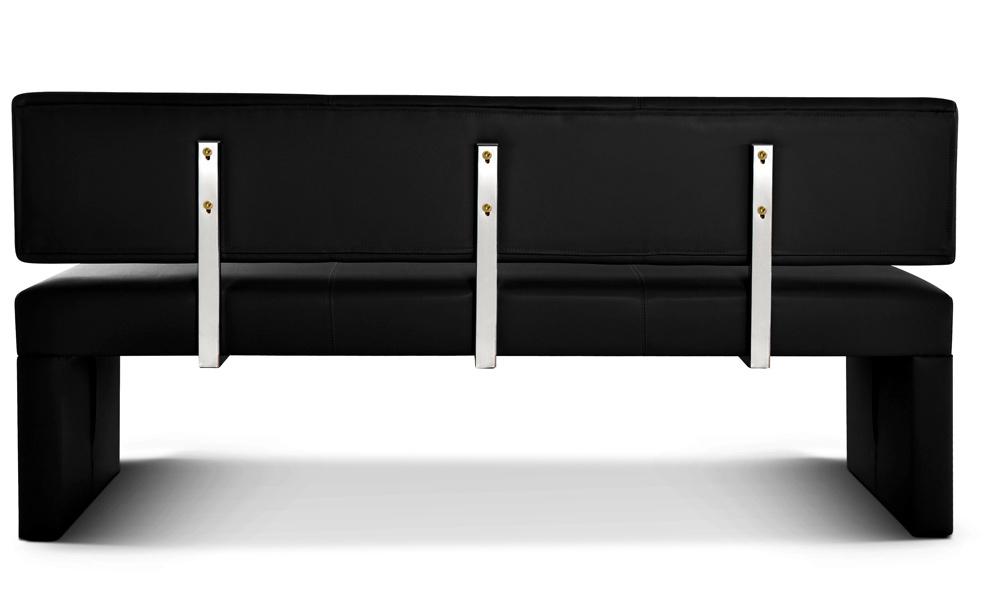 sam esszimmerbank 200 cm schwarz recyceltes leder sofia demn chst. Black Bedroom Furniture Sets. Home Design Ideas