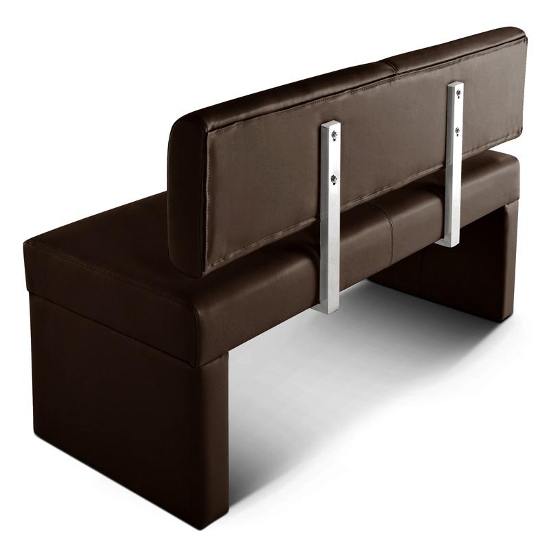 sam esszimmerbank 140 cm braun recyceltes leder sabrina demn chst. Black Bedroom Furniture Sets. Home Design Ideas