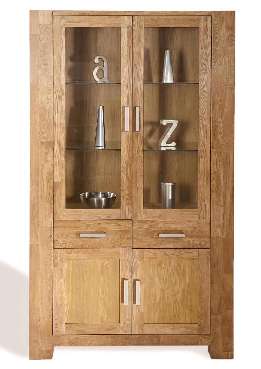 sam vitrine wildeiche teilmassiv 190 cm sit zeus 1604 01. Black Bedroom Furniture Sets. Home Design Ideas