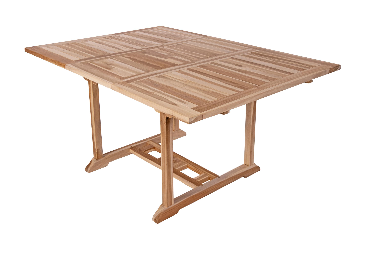 sam teak gartentisch eckig ausziehbar 120 170 cm x 120 cm madera. Black Bedroom Furniture Sets. Home Design Ideas