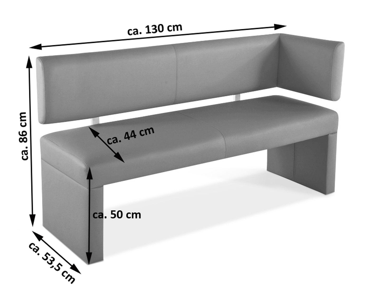 sam sitzbank ottomane 130 cm mit r ckenlehne in braun lasabrina. Black Bedroom Furniture Sets. Home Design Ideas