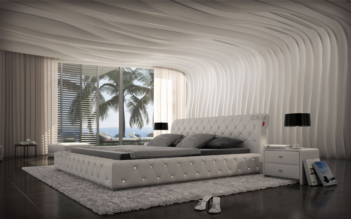 sam polsterbett innocent 200 x 220 cm farbauswahl fellini. Black Bedroom Furniture Sets. Home Design Ideas