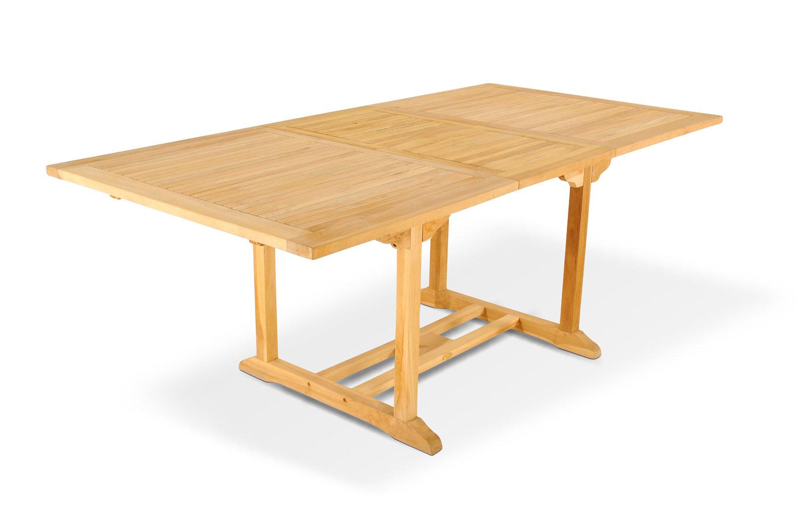 Teakholzmöbel patina  SAM® Gartentisch ausziehbar 150 - 200 cm Teakholz CARACAS