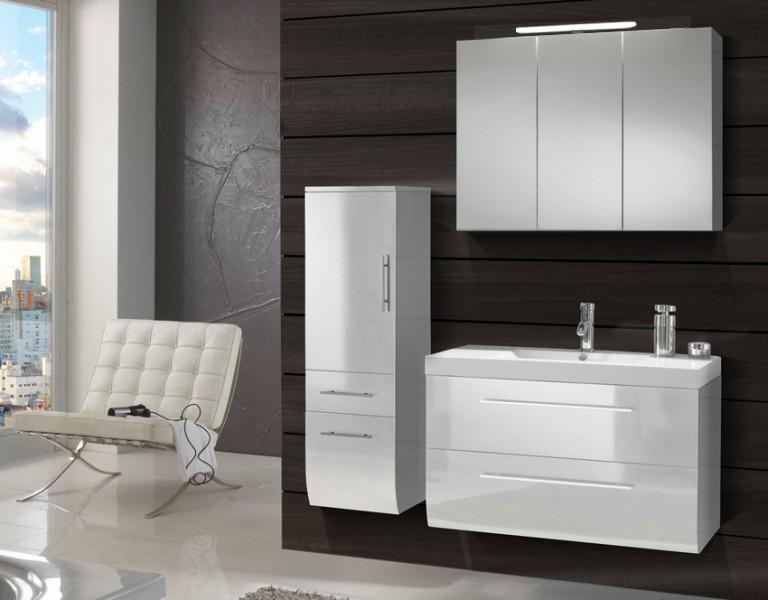 sam badm bel set 3tlg waschtisch 90 cm wei hochglanz z rich demn chst. Black Bedroom Furniture Sets. Home Design Ideas