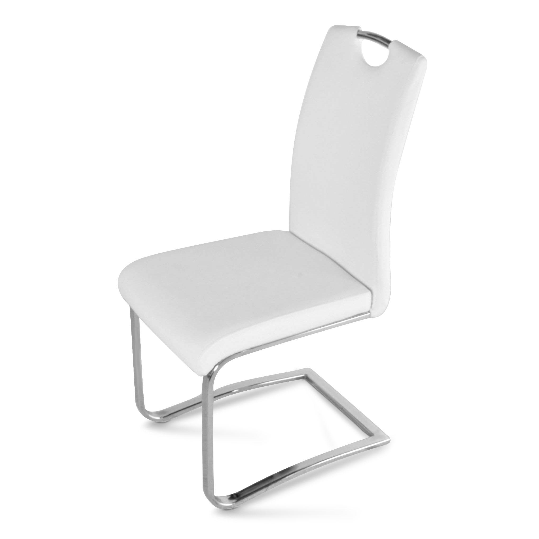 sam design freischwinger stuhl in wei nicole ii auf lager clever und g nstig ab fabrik. Black Bedroom Furniture Sets. Home Design Ideas